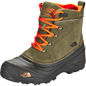 The North Face Chilkat Lace II Kozaki Dzieci, tarmac green/scarlet ibis
